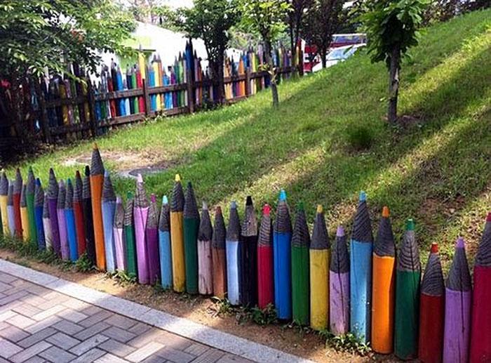 garden fence Idea |cheap yard fencing