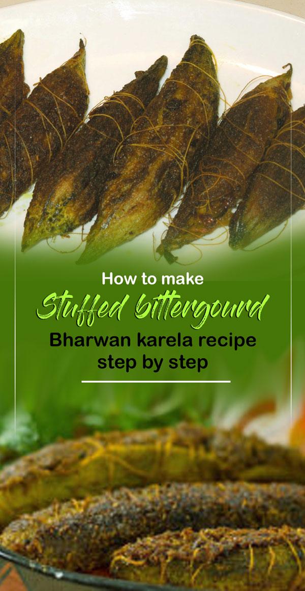 Stuffed Bitter Gourd   Bharwan karela recipe