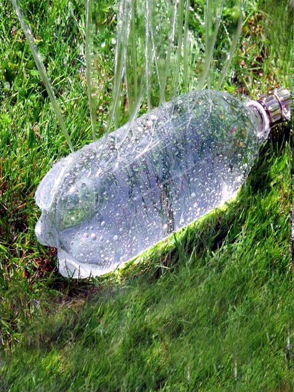Diy plastic bottle sprinklers