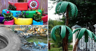 Old Tire Garden | Attractive garden DIY projects