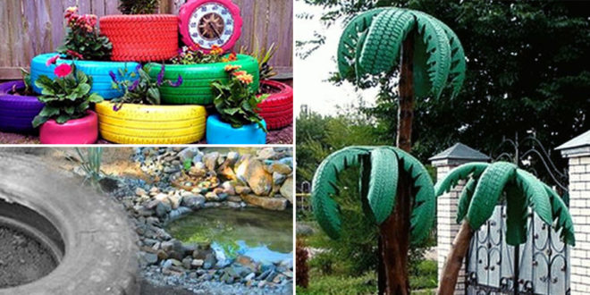 Old Tire Garden | Attractive garden DIY projects - NatureBring