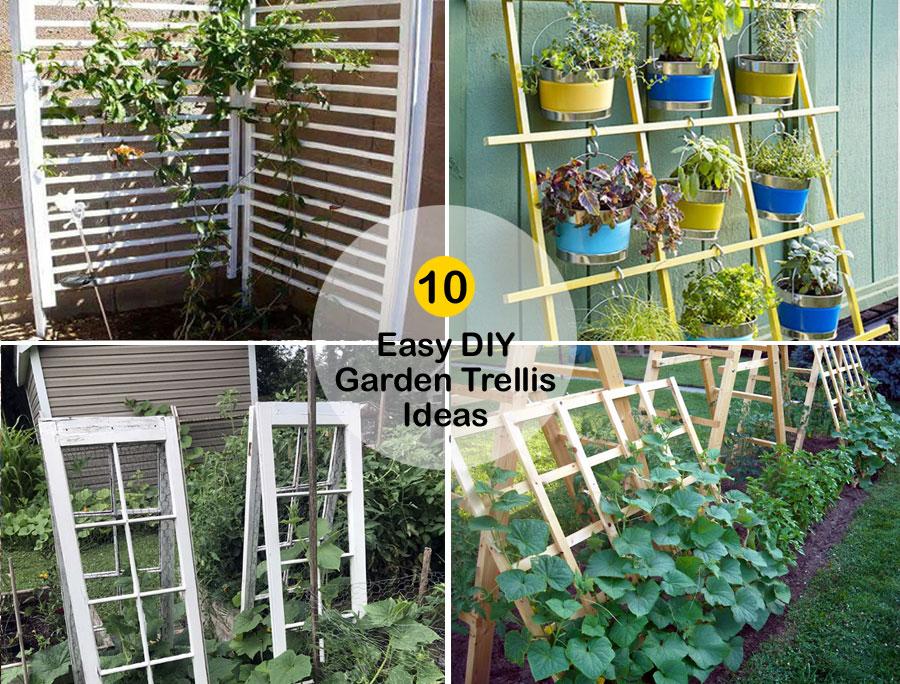 10 Easy DIY Garden Trellis Ideas | DIY Trellis for your garden